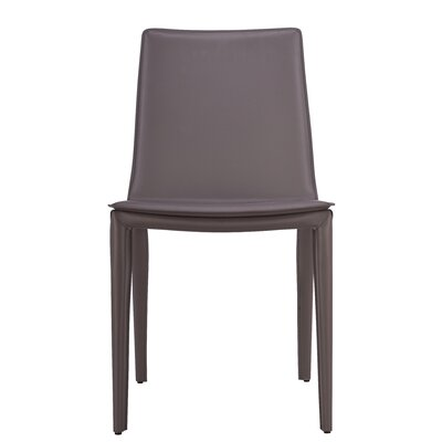 Thane Upholstered Dining Chair Color: Brown