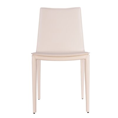 Thane Upholstered Dining Chair Color: White