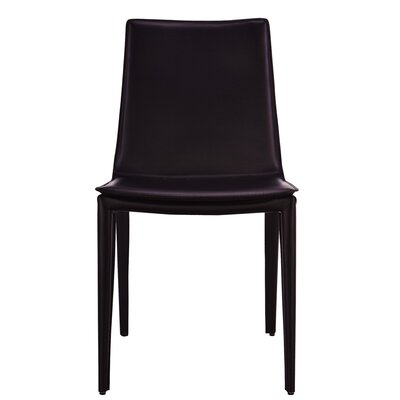 Thane Upholstered Dining Chair Color: Black