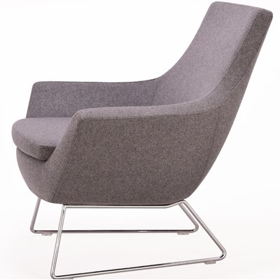Crase Leather Lounge Chair Seat Color: Gray