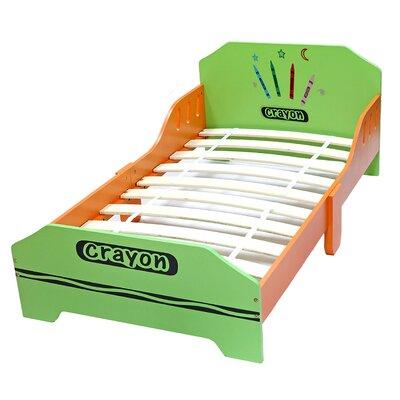 Ellington Circle Junior Toddler Panel Bed Bed Frame Color: Green