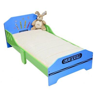 Ellington Circle Junior Toddler Panel Bed Bed Frame Color: Blue