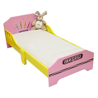 Ellington Circle Junior Toddler Panel Bed Bed Frame Color: Pink