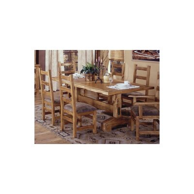 Artisan home furniture lodge 100 trestle table wp1786 dining table mall Artisan home furniture bar stools
