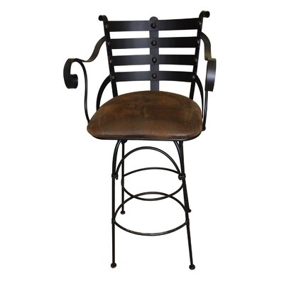 In store financing Swivel Bar Stool with Iron Back Sea...