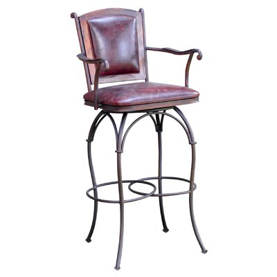 Rent Swivel Bar Stool with Leather Back ...
