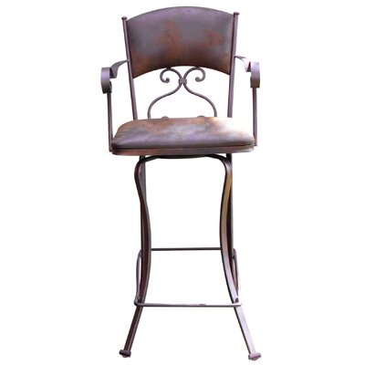 Lease to own Swivel Bar Stool with Microfiber Ba...