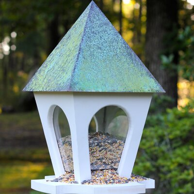 Wild Bird Bistro Hopper Bird Feeder Finish: Verdigris