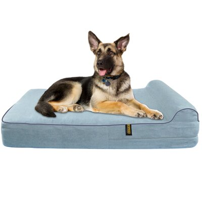 Orthopedic Memory Foam Dog Cot Color: Gray
