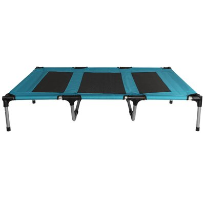 Elevated Indoor/Outdoor Portable Bed Cot Color: Blue