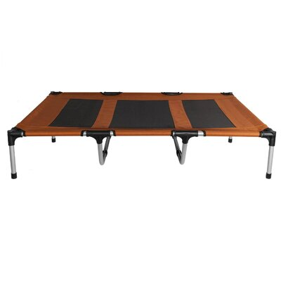 Elevated Indoor/Outdoor Portable Bed Cot Color: Brown