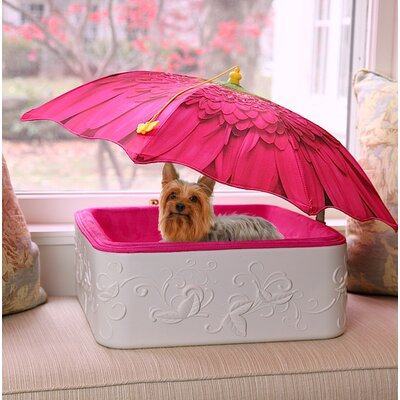 Bolster Pet Bed with Umbrella