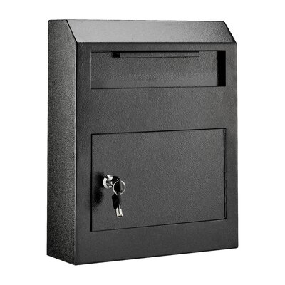 Heavy Duty Secured Locking Wall Mounted Mailbox Mailbox Color: Black 631-07-BLK