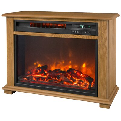 Portable Fireplace 300 Watt Electric Infrared Cabinet Heater with Decorative Mantel Trim SCS-FP2042