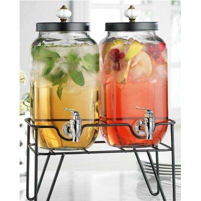 Dean Hammered 3 Piece Beverage Dispenser Set Size: 17.9