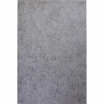 Vytla Gray Area Rug Rug Size: 25 x  41