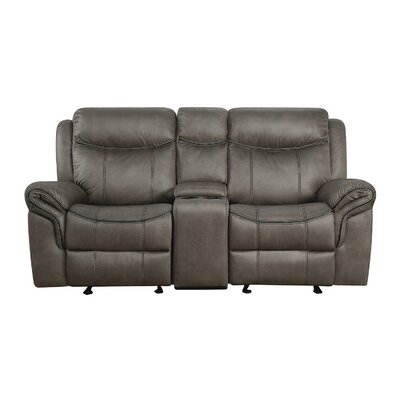 Raffaela Glider Motion Loveseat Upholstery: Two Tone Gray