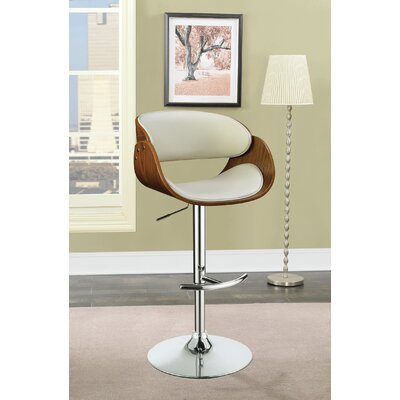 Lackey Bar Stool Upholstery: White