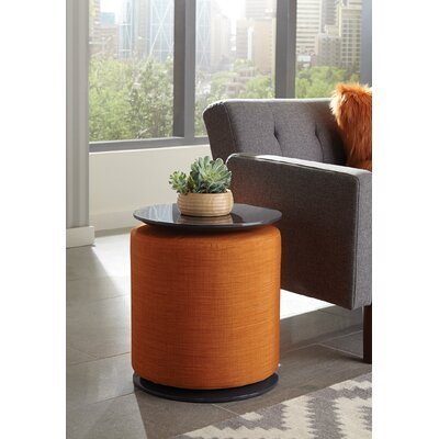 End Table Table Base Color: Orange