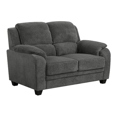 Castonguay Loveseat Upholstery: Charcoal