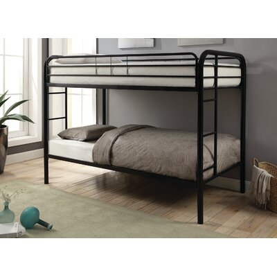 Garfield Twin over Twin Bunk Bed Bed Frame Color: Black