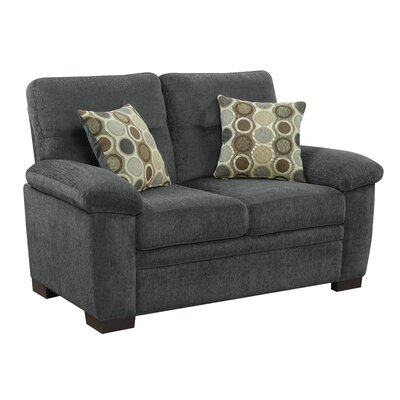 Bashir Loveseat Upholstery: Charcoal