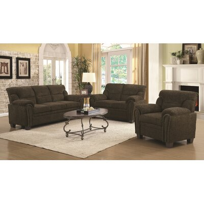 Eugene Loveseat Upholstery: Brown