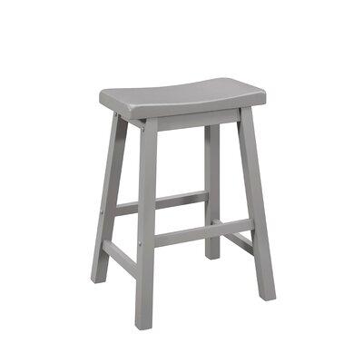 Herman 32.87 Counter Height Bar Stool Color: Gray