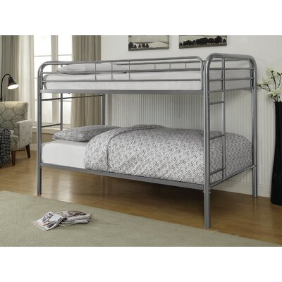 Garfield Twin over Twin Bunk Bed Bed Frame Color: Silver
