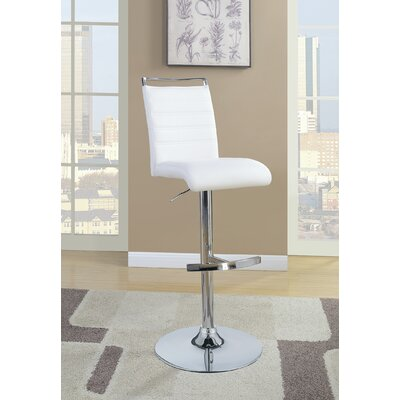 Labarge Bar Stool Upholstery: White