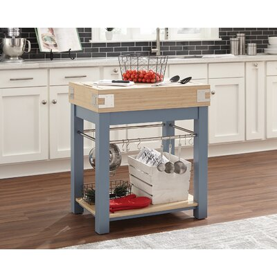 Kitchen Cart Base Finish: Blue