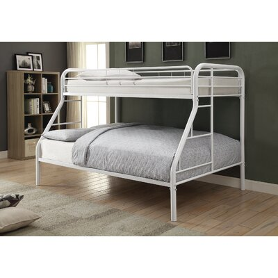 Gariepy Twin over Full Bunk Bed Color: White