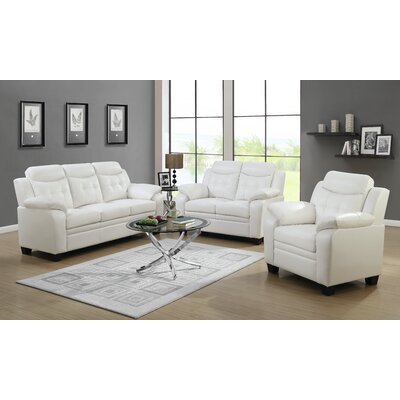 Mosche Loveseat Upholstery: White
