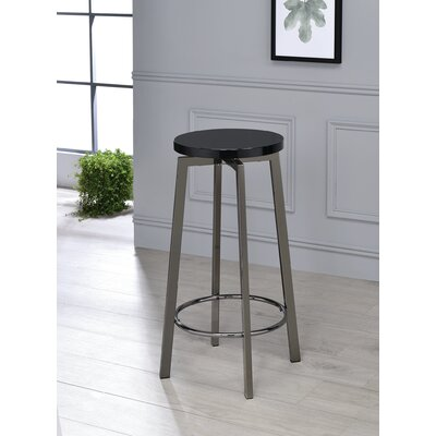 Lade 34 Bar Stool Color: Glossy Black