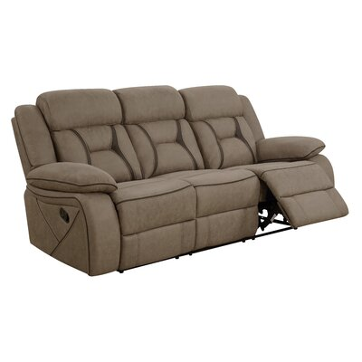 Reingard Reclining Motion Sofa Upholstery: Tan