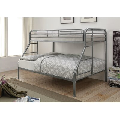 Gariepy Twin over Full Bunk Bed Color: Silver