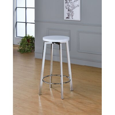 Lade 34 Bar Stool Color: Glossy White