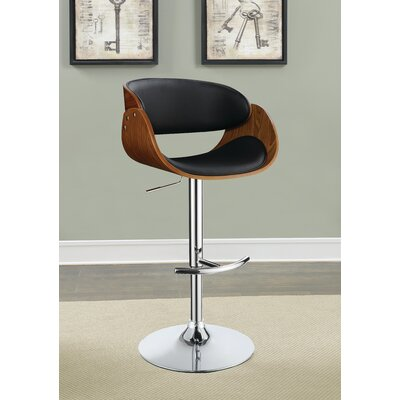 Lackey Bar Stool Upholstery: Black