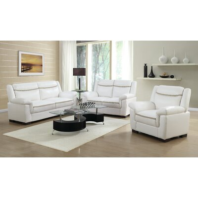 Finch Loveseat Upholstery: White