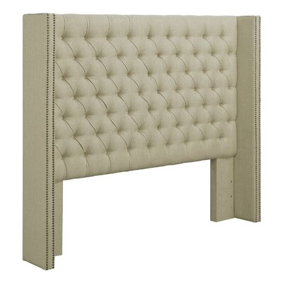 Upholstered Wingback Headboard Size: Full