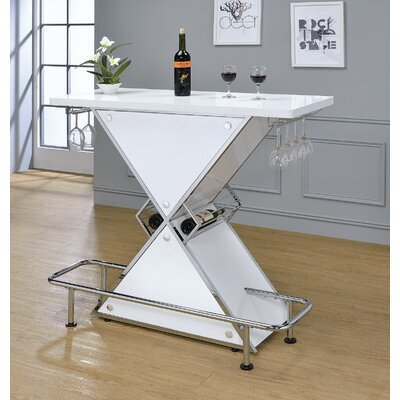 Lacoste Pub Table Finish: Glossy White