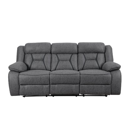 Reingard Reclining Motion Sofa Upholstery: Gray