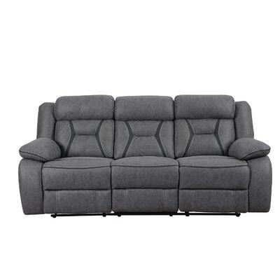 Reingard Reclining Motion Sofa Upholstery: Gray