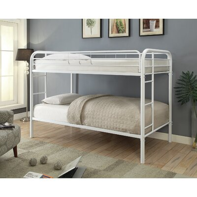 Garfield Twin over Twin Bunk Bed Bed Frame Color: White