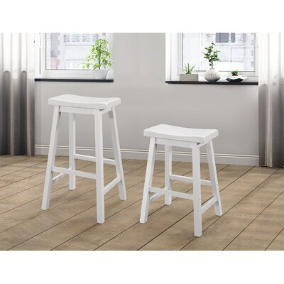 Herman 32.87 Counter Height Bar Stool Color: White