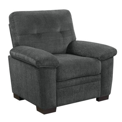 Edwige Club Chair Upholstery: Charcoal