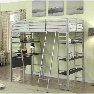 Garden Workstation Twin Loft Bed Bed Frame Color: Silver
