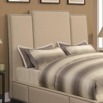 Belair Upholstered Beige Panel Headboard Size: Eastern King