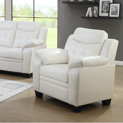 Shrutika Armchair Upholstery: Snow white
