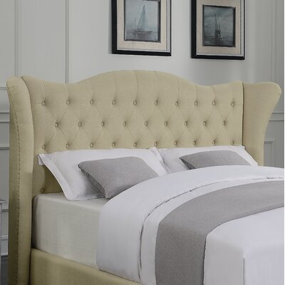Phillip Upholstered Wingback Headboard Size: California King
